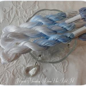 Fil perle 5 variation bleue un petit fil