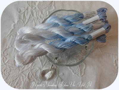 Fil perlé 5 Variation Bleue
