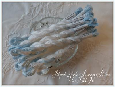 Fil Perlé 8 Brumes Bleues