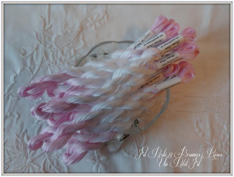Fil perle 8 brumes roses un petit fil