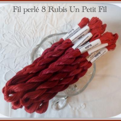 Fil perlé 8 Rubis