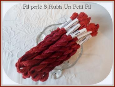 Fil perle 8 rubis