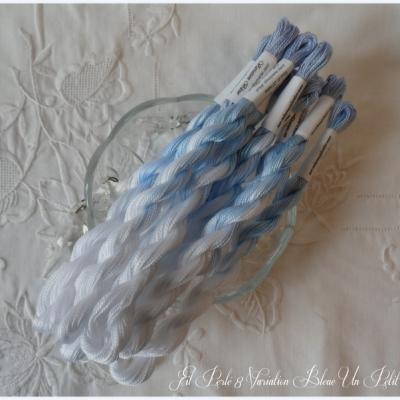 Fil Perlé 8 Variation Bleue