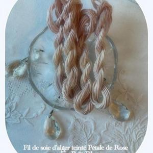 Fil soie petale de rose un petit fil