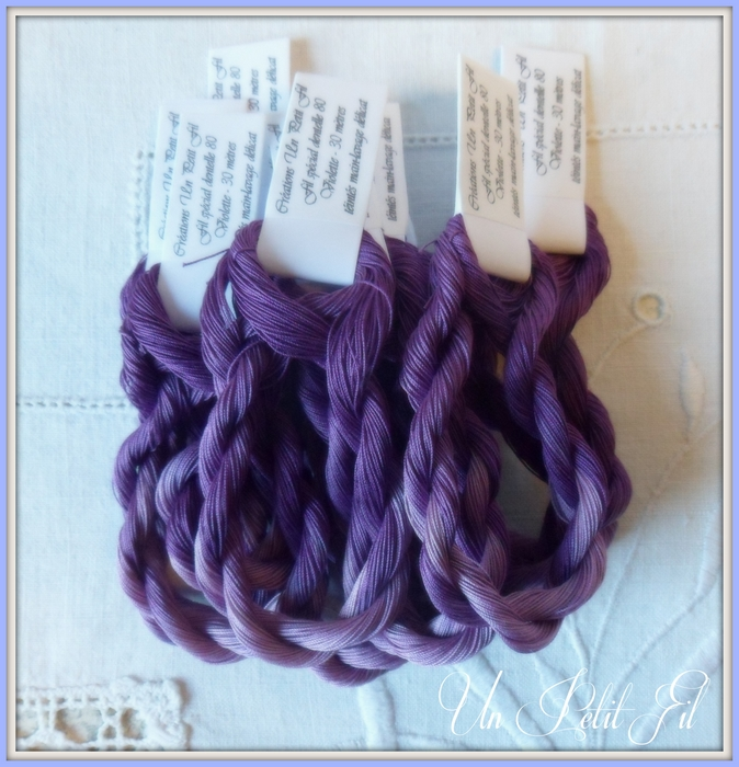 Fil special dentelles 80 violette