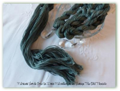 Fil vert de gris un petit fil collection les vintage the old threads