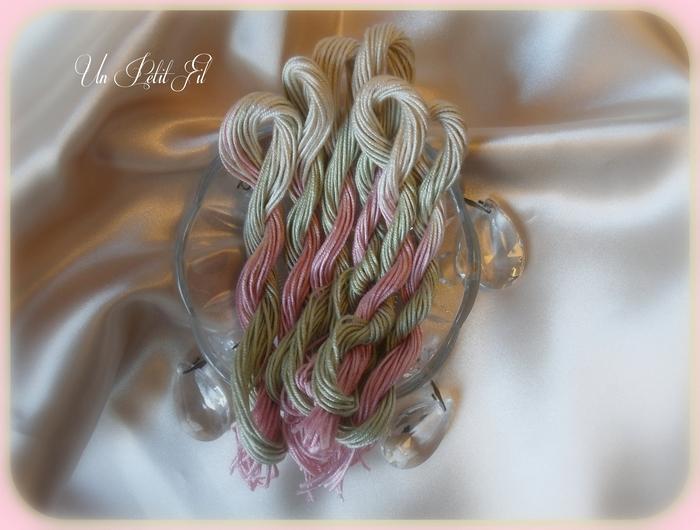 Fil de soie rosane