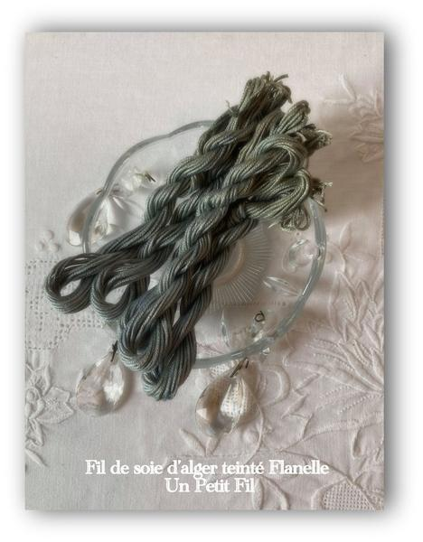 Fils de soie teintes flanelle un petit fil