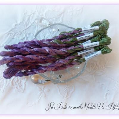 Fil perlé 12 Menthe Violette