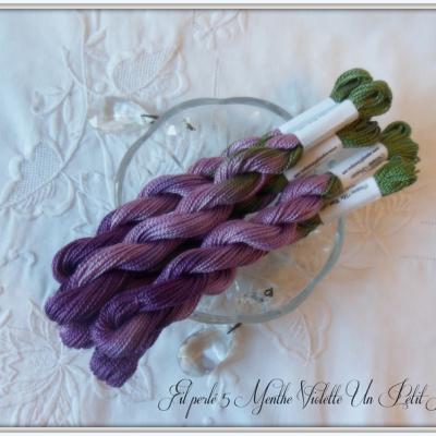 Fil perlé 5 Menthe Violette