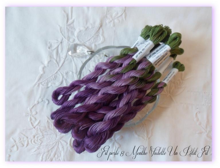 Fil perlé 8 Menthe Violette