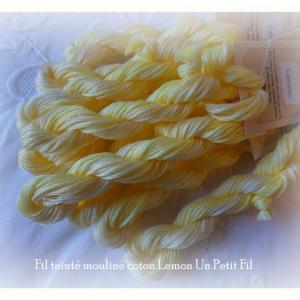 Fils teintes lemon un petit fil 1