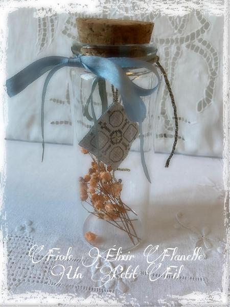 Fiole elixir flanelle un petit fil