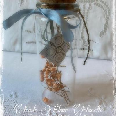 Kit Fiole Elixir Flanelle (sur toile 16 fils/cm)