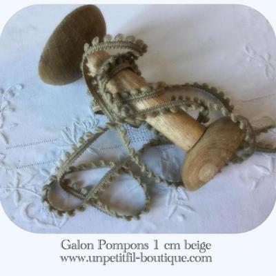 Galon pompons Beige