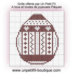 Grille joyeuses paques 2018 offerte par un petit fil