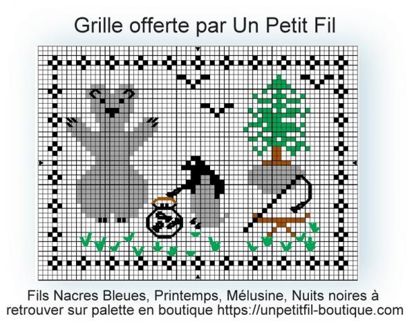 Grille offerte l ours et le pingouin