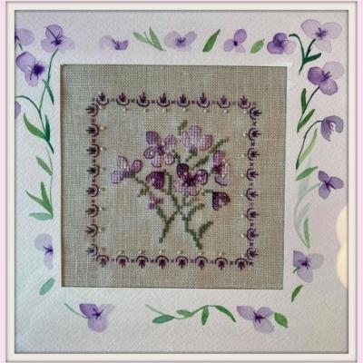 Kit Petites Violettes (au choix toile 16 fils/cm ou 12 fils)