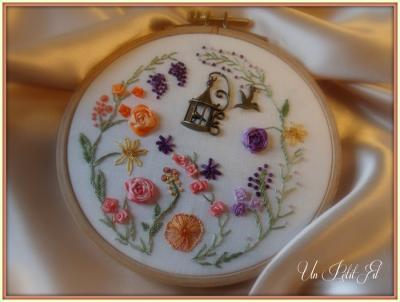 Kit Ronde des Fleurs Rubans de soie et fils coton