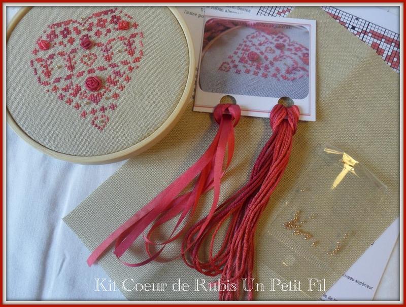Kit coeur de rubis un petit fil