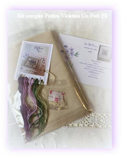 Kit complet petites violettes un petit fil