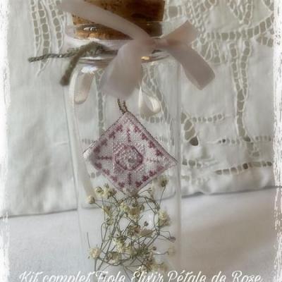 Kit Fiole Elixir Pétale de Rose (sur toile 16 fils/cm)