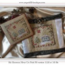 Kits complets Heureux Hiver 2 versions 12 et 16 fils