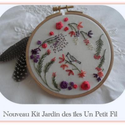 Kit Jardin des Iles Rubans de soie et fils coton