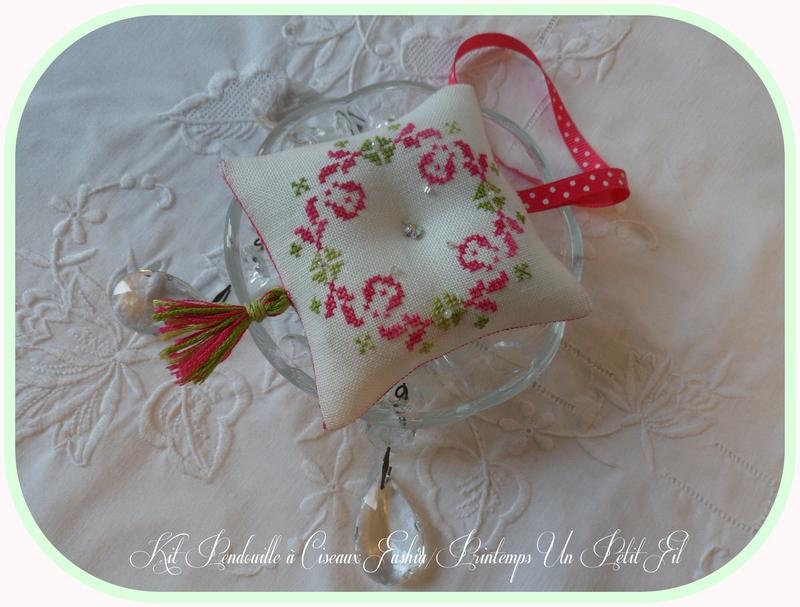 Kit pendouille a ciseaux fushia printemps 2