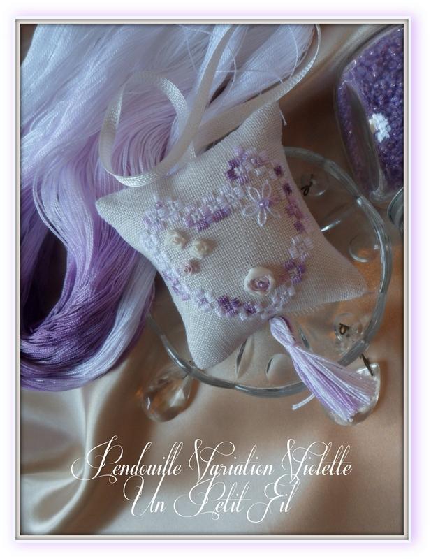Kit pendouille a ciseaux hardanger et soie variation violette 2