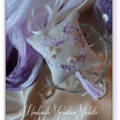 Kit Pendouille à Ciseaux Hardanger et soie Variation Violette