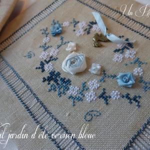 Kits jardin d ete soie et coton version bleue