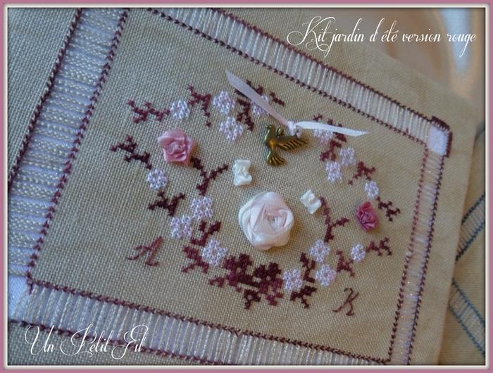 Kit Jardin d'été soie et coton version rouge