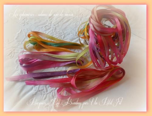 Les ephemeres rubans de soie de saison un petit fil