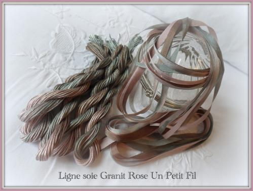 Ligne soie granit rose un petit fil