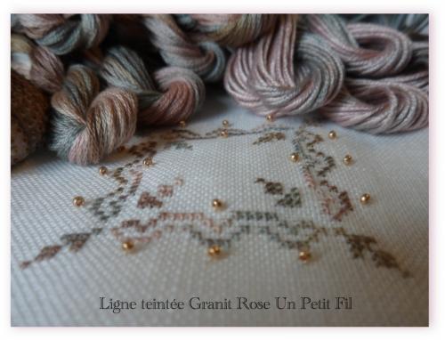 Ligne teintee granit rose un petit fil 1