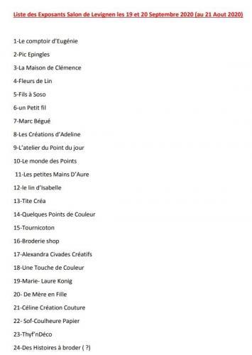 Liste exposants 1