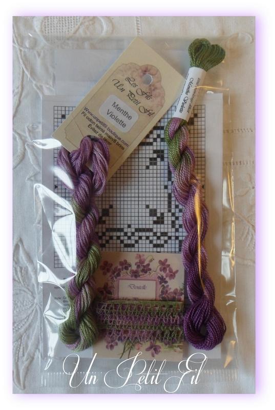 Lot decouverte menthe violette un petit fil