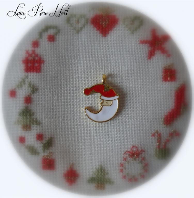 Charm Père-Noël lune