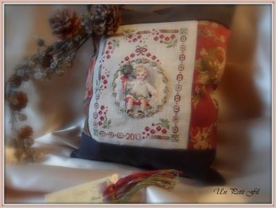 Kit Noël à l'ancienne (version toile à broder 12.6 fils)