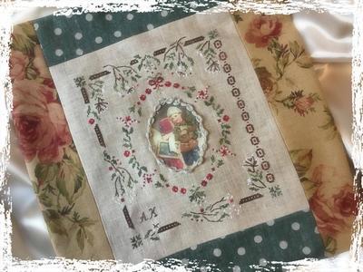 Kit Noël sous le Gui (version toile à broder 12,6 fils)
