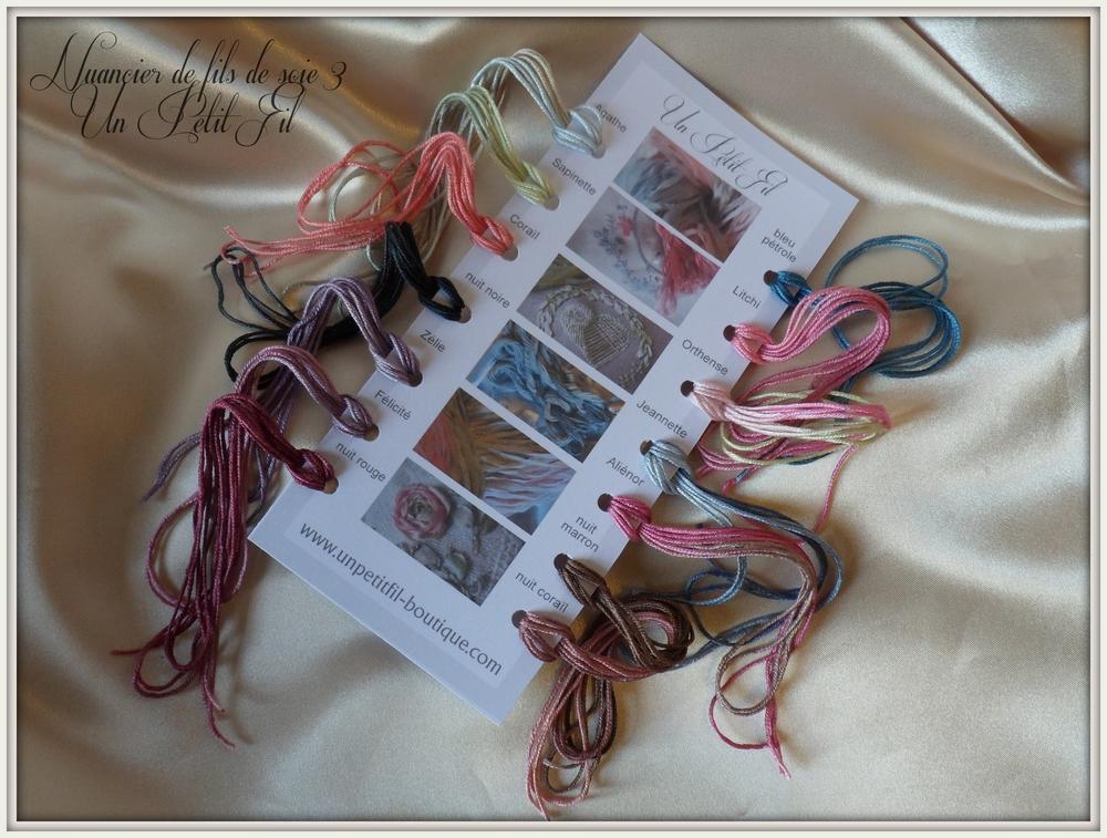 Nuancier de fils de soie 3 un petit fil