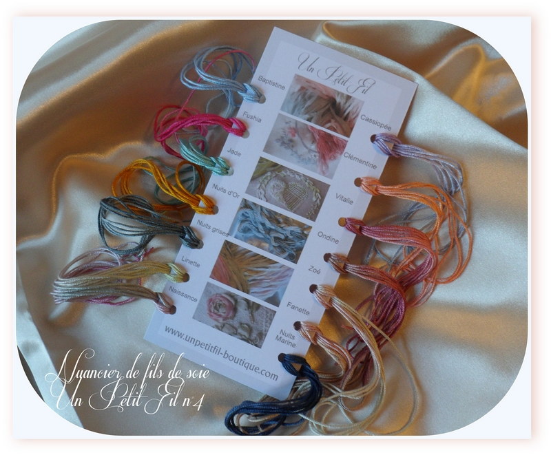 Nuancier de fils de soie 4 un petit fil