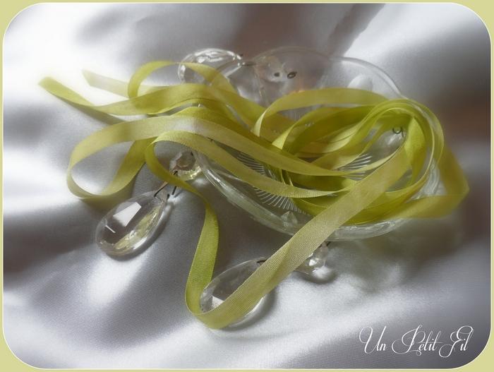 Ruban de soie Printemps 7 mm