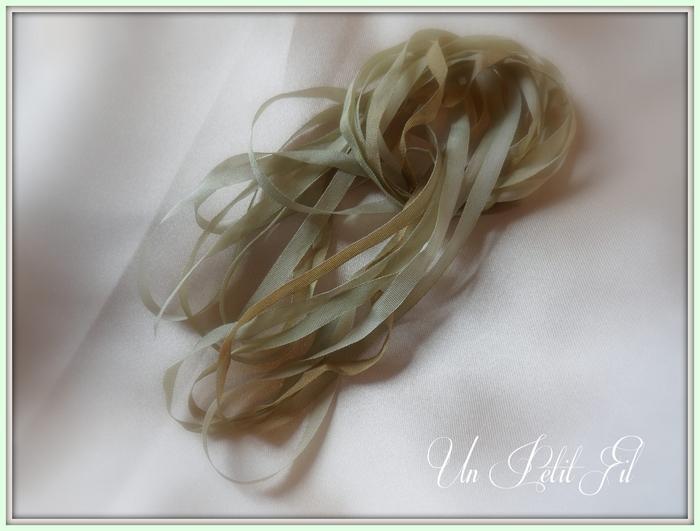 Ruban de soie Sous-bois 4 mm