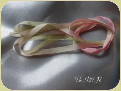 Ruban de soie Rosane 7 mm