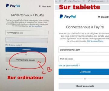 Paiements paypal