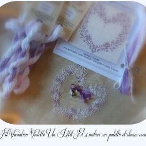 Palette fil variation violette un petit fil avec charm coeur