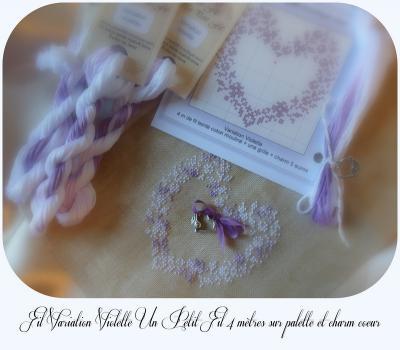 Fil Variation Violette Palette cœur fil 4 mètres