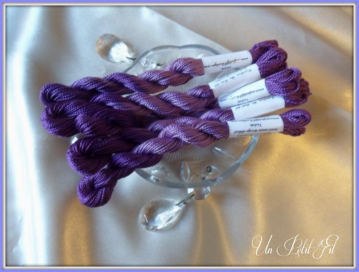 Fil perlé 5 Violette